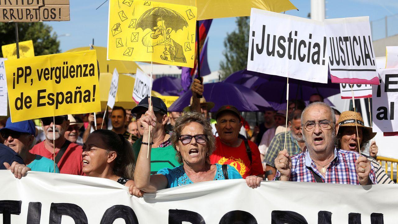 Rajoy: «Jamás me he ocupado de asuntos económicos en el partido».Rajoy declarando como testigo en la Audiencia Nacional por la Gürtel.
