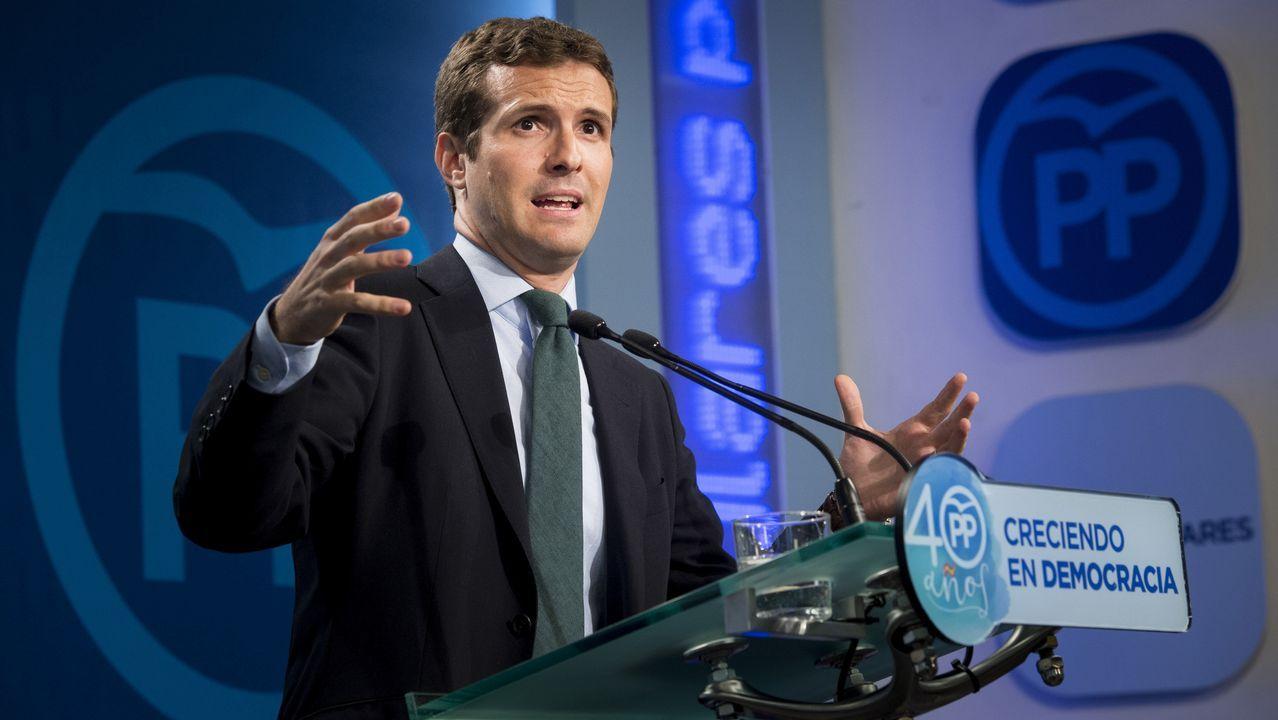 Pablo Casado advierte a Puigdemont de que puede acabar como Companys.