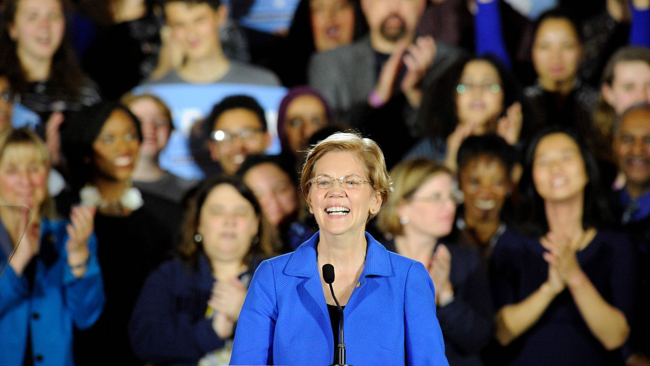 La senadora Elisabeth Warren
