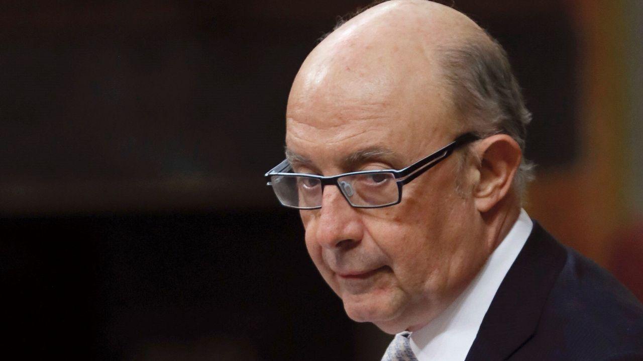 .El ministro de Hacienda, Cristóbal Montoro