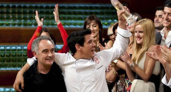 juanmanuel.Juan Manuel, con Ferran Adrià