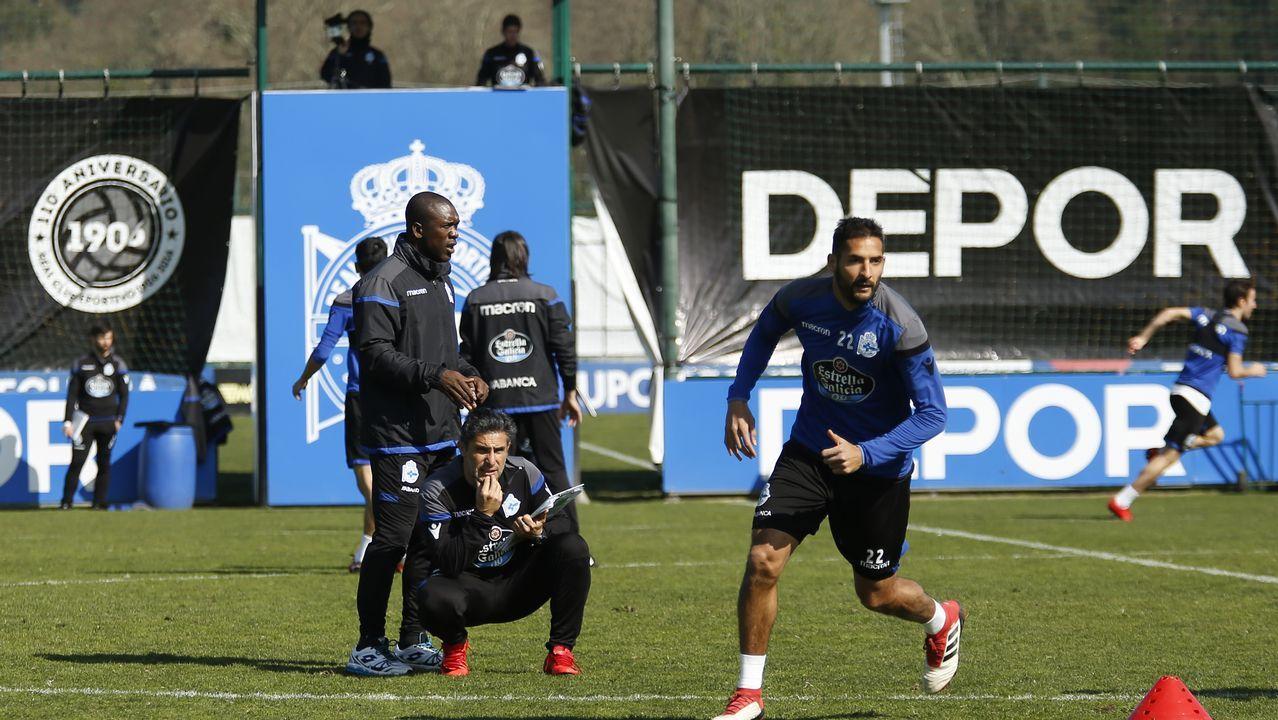 Las mejores imágenes del Girona - Dépor.Seedorf, técnico holandés del Deportivo