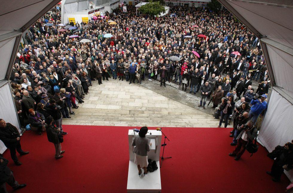 Los carteristas aprovechan aglomeraciones de gente como la de este domingo en Sober.
