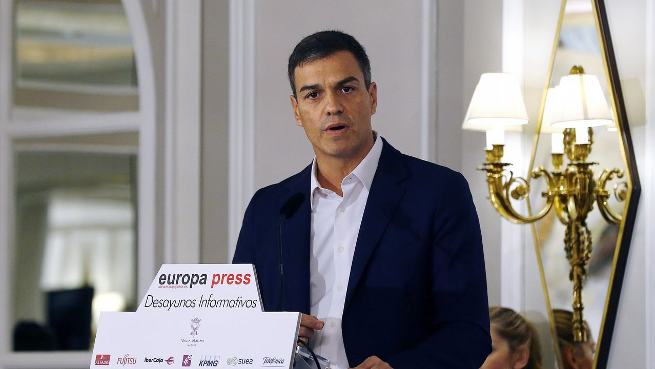 Pedro Sánchez: «La nación de naciones estaría formada por España, Cataluña, Galicia y País Vasco».Zapatero y Maduro, en uno de sus encuentros