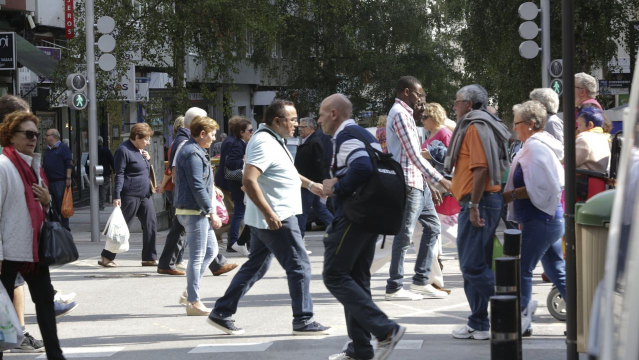 La populosa calle Barcelona, en A Coruña