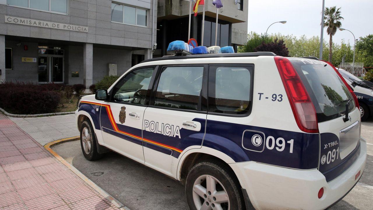 La subdelegada del gobierno Maica Larriba sufre un percance en una visita a la N-640.Miñanco, durante una de las sesiones del juicio