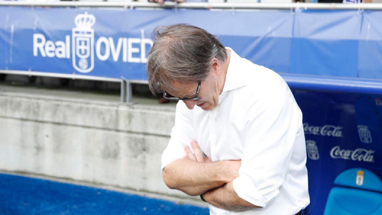 Anquela Real Oviedo Zaragoza Carlos Tartiere.Anquela, antes del enfrentamiento ante el Zaragoza