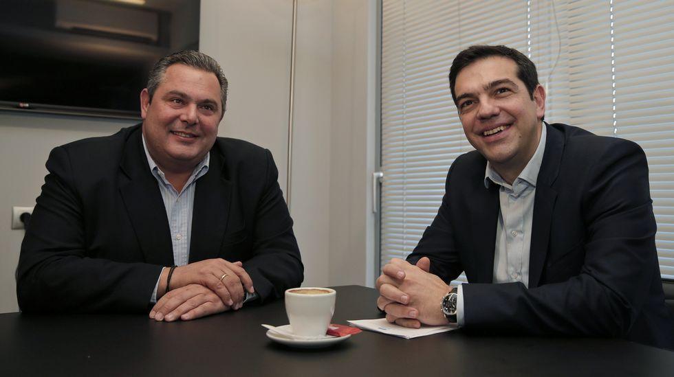 .Panos Kammenos, con Alexis Tsipras.