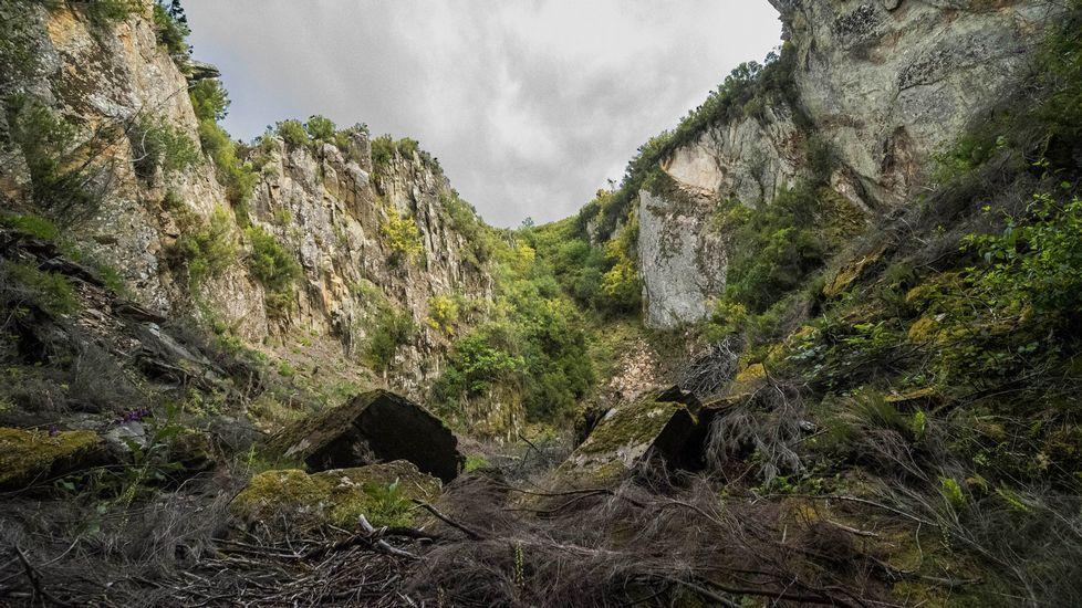 Una vista de la mina a cielo abierto de O Covallón