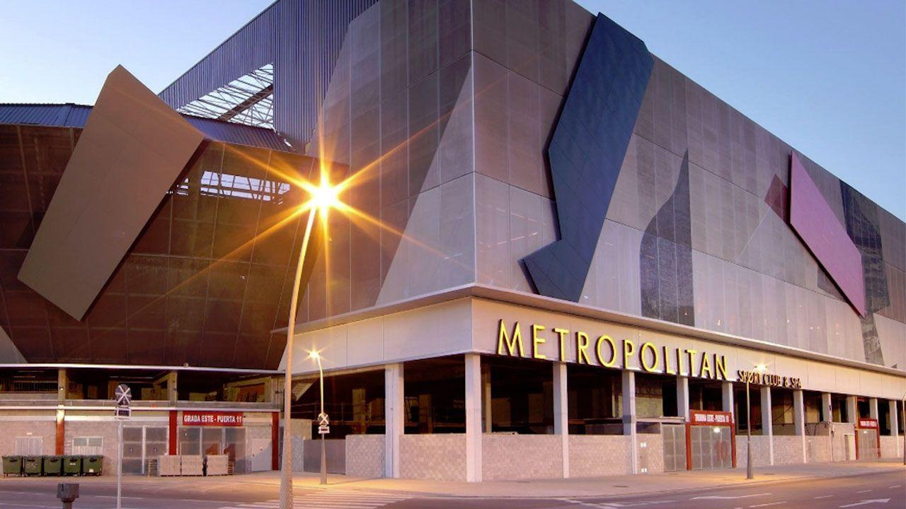 .Instalaciones de Metropolitan en los bajos de El Molinón