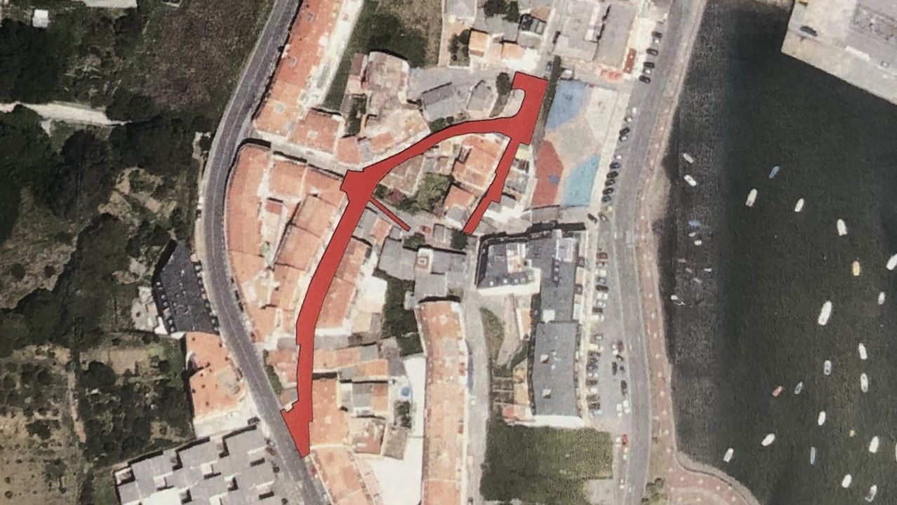 Zona de actuación en el barrio de Fontán prevista en el proyecto