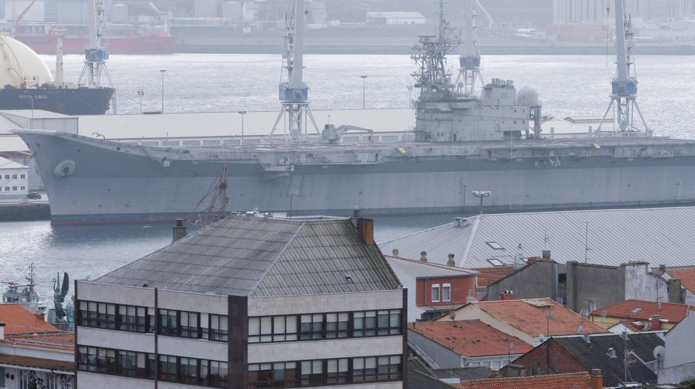 .El portaviones en su ubicación actual.
