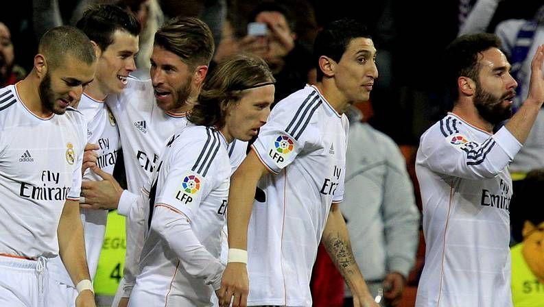 Modric celebra uno de los goles al Villarreal