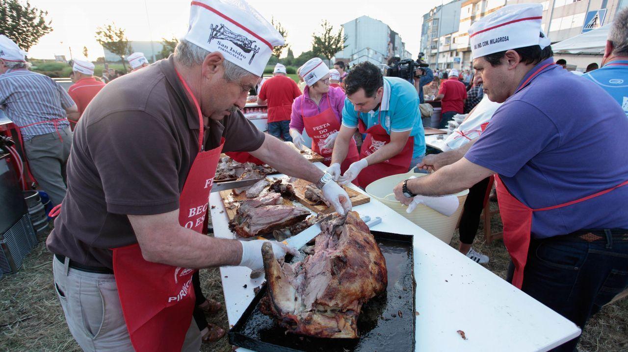 .Celebración del San Juan en el barrio de A Piringalla, en Lugo.