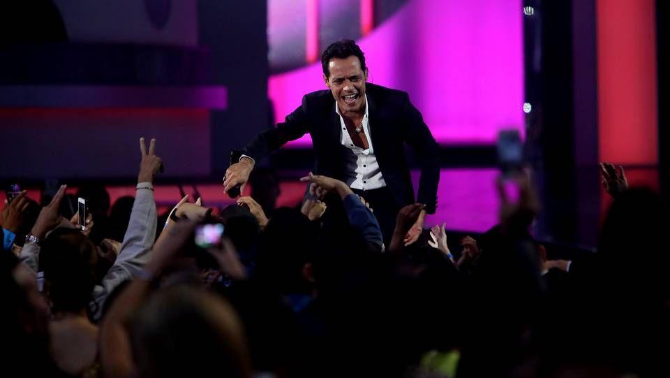 Gala en Las Vegas.Marc Anthony en los premios Billboard