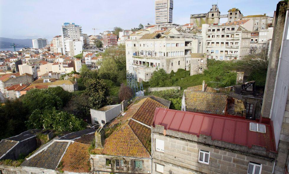 Barrio do Cura, donde Karpin quiere levantar una urbanización con 350 pisos de lujo.