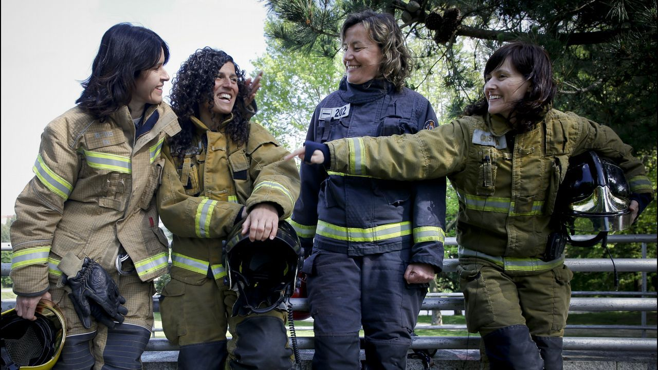 De izquierda a derecha, Susana Pedreira, Almudena Suárez, Catu Vilariño y Cristina Posada