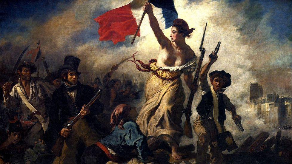 Tensión en las calles de Alsasua por el acto conjunto de Ciudadanos, PP y Vox.«La Libertad guiando al pueblo», cuadro de Eugène Delacroix, alegórico de los sucesos revolucionarios de julio de 1830 en París (Museo del Louvre)