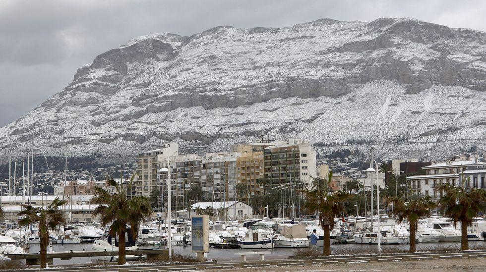 Nevada en Dénia, Alicante