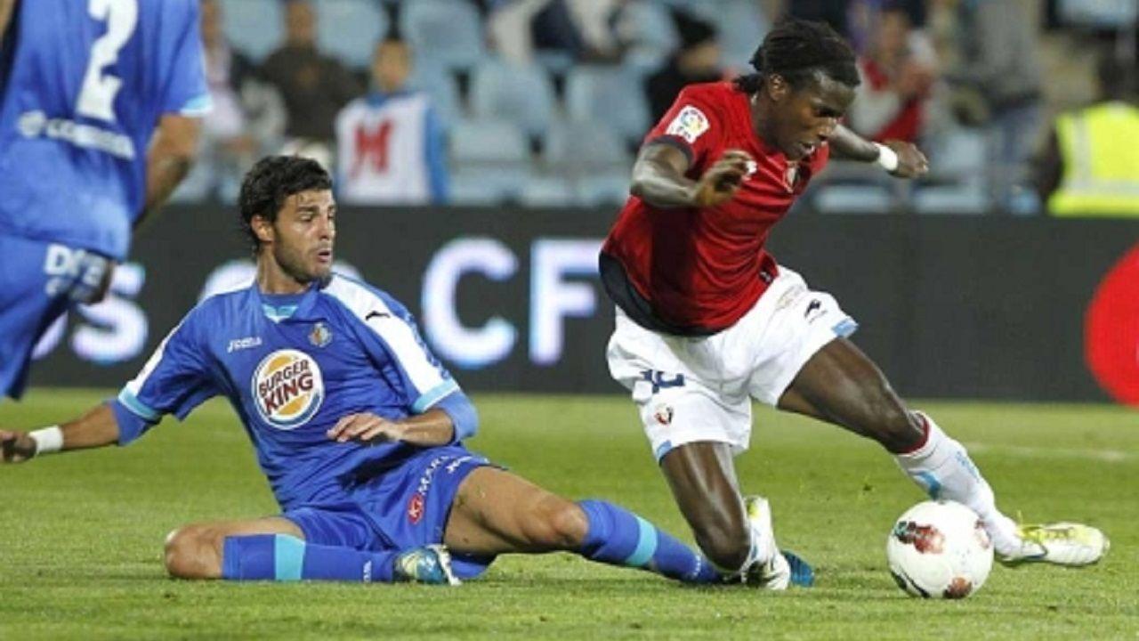 Ibrahima y Miguel Torres en un Getafe-Osasuna