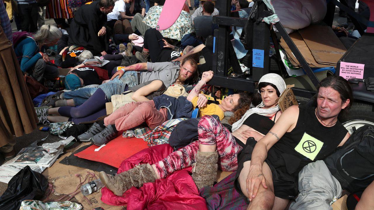 Protestas de grupos ecologistas en Londres
