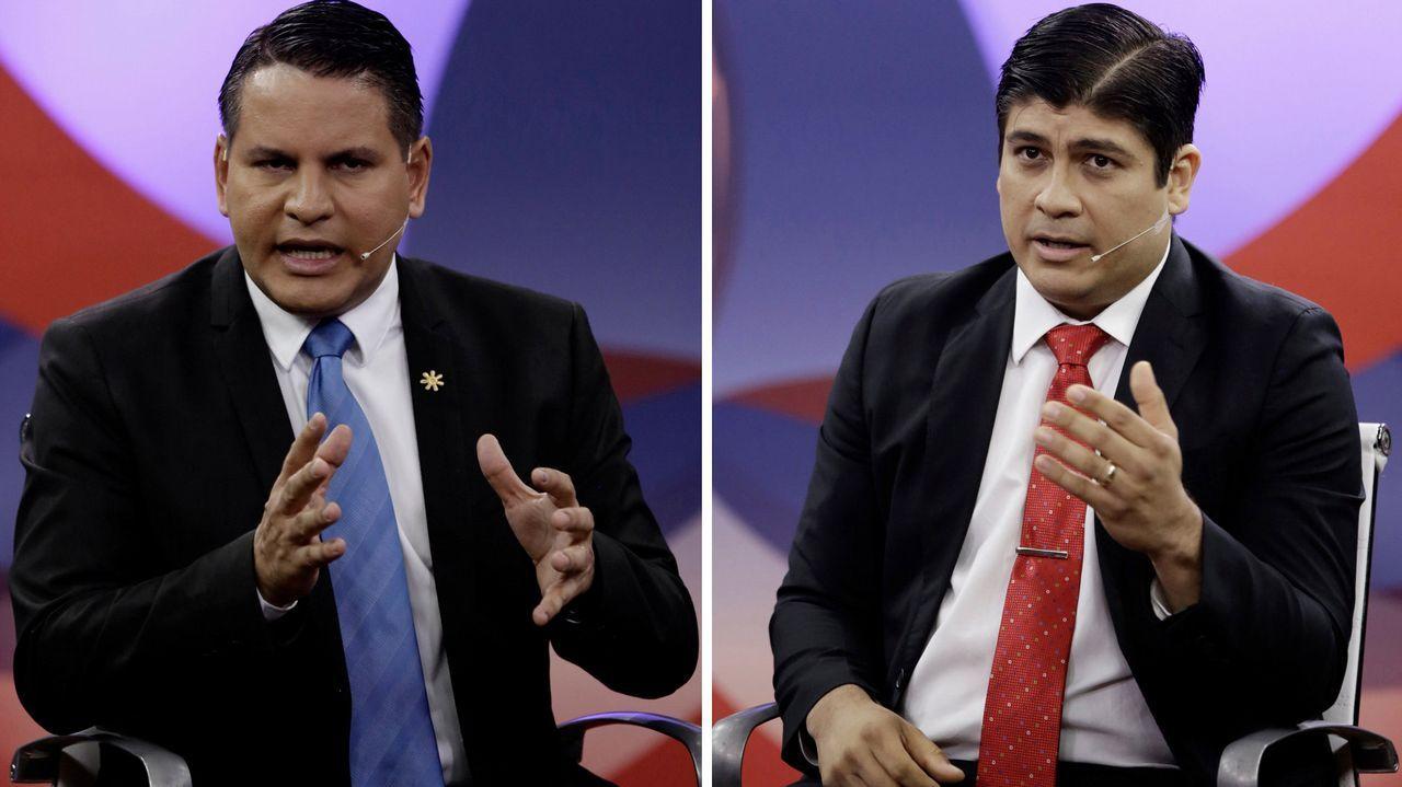 Fabricio Alvarado Muñoz y Carlos Alvarado Quesada