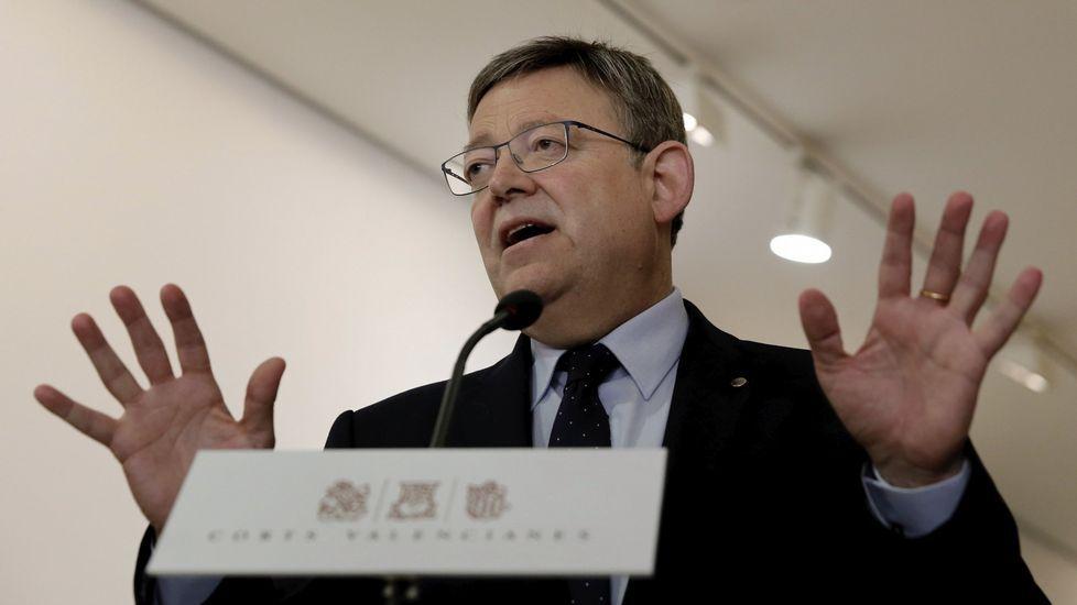 Rajoy y Sánchez se enzarzan al hablar sobre pensiones.Ximo Puig