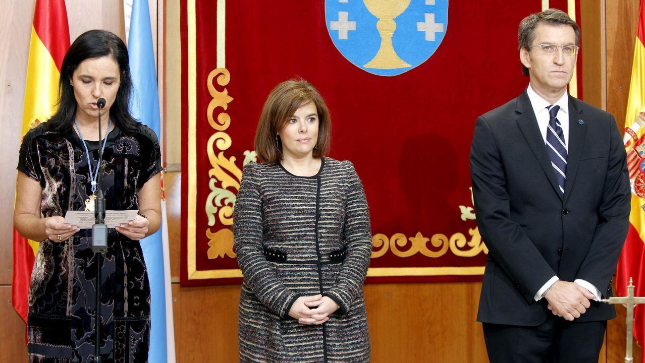 En el acto de la toma de posesión de Feijoo en 2012 estuvo también Soraya Saénz de Santamaría.