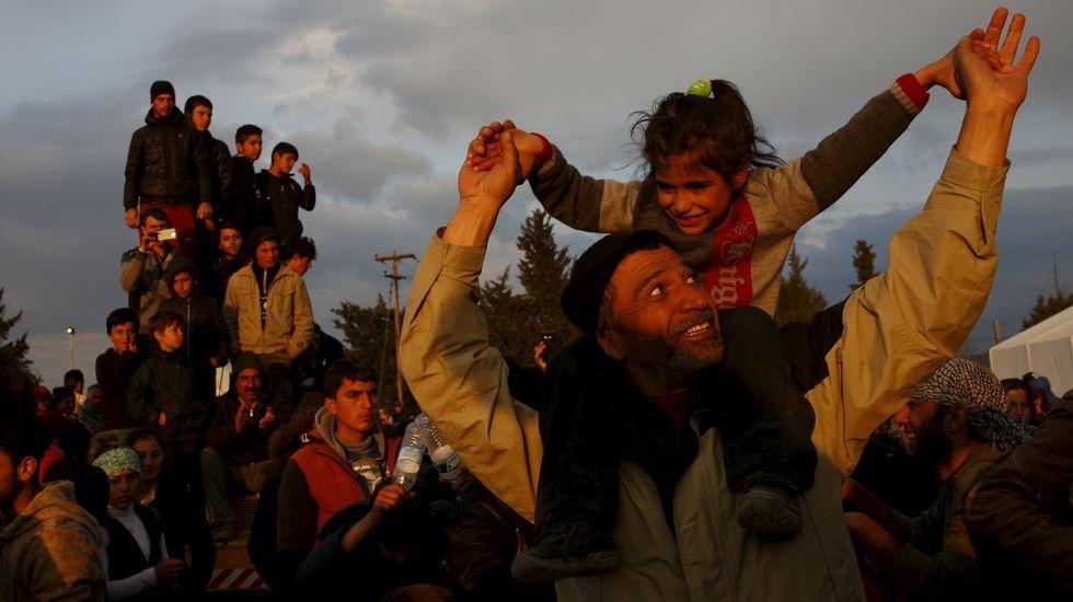 V Televisión en la zona 0 de los refugiados