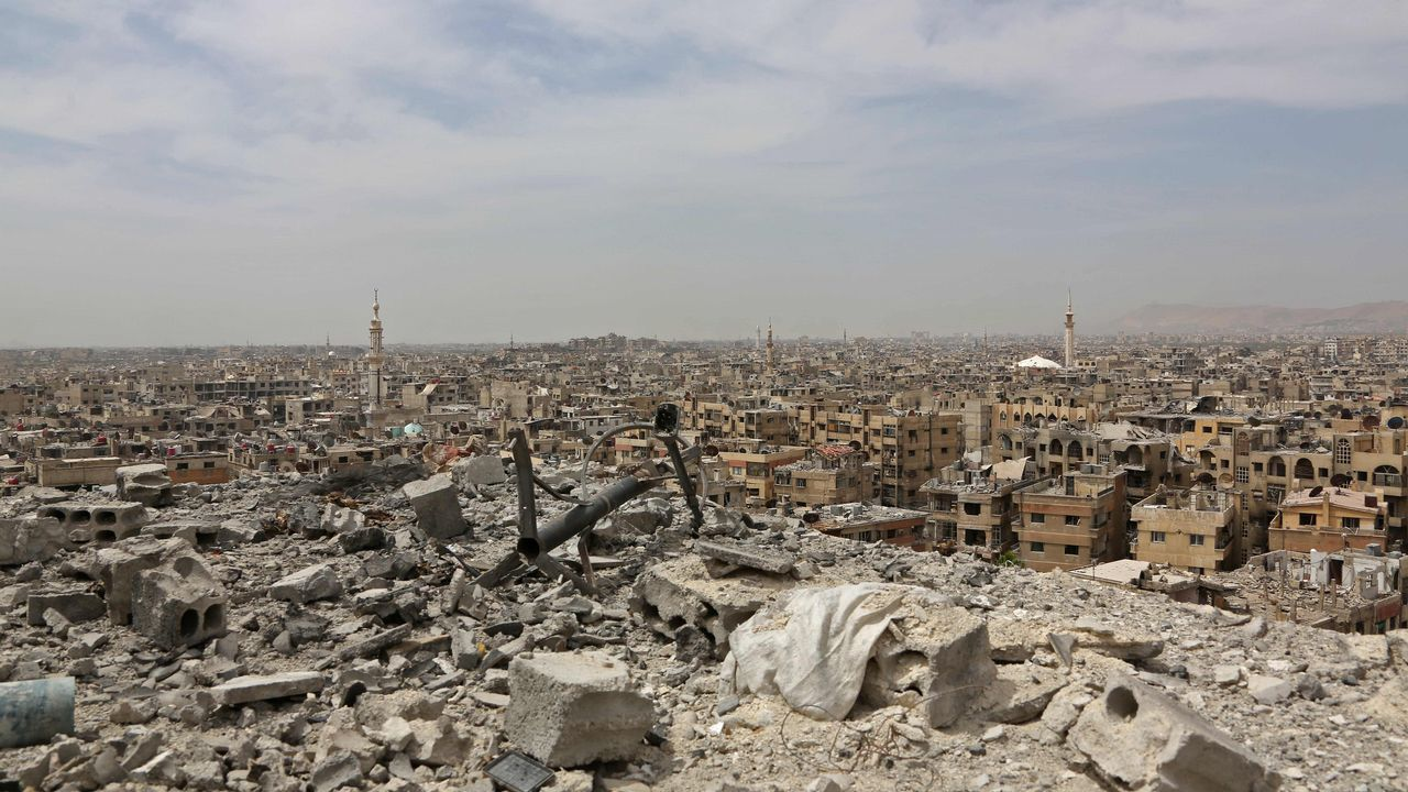 Así estudian los niños en Siria.Duma, la ciudad más importante de la región de Guta Oriental, ha estado bajo control de los opositores armados desde el 2011