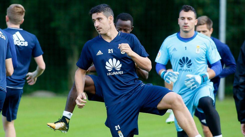 Saul Berjon Requexon Real Oviedo Horizontal.Saul Berjon durante el entrenamiento
