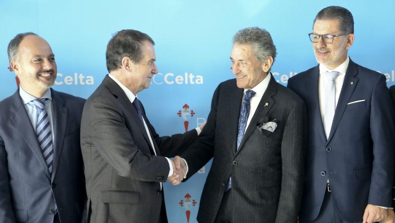 Abel Caballero: «las de Vigo serán las Navidades más top del planeta».Abel Caballero y Carlos Mouriño