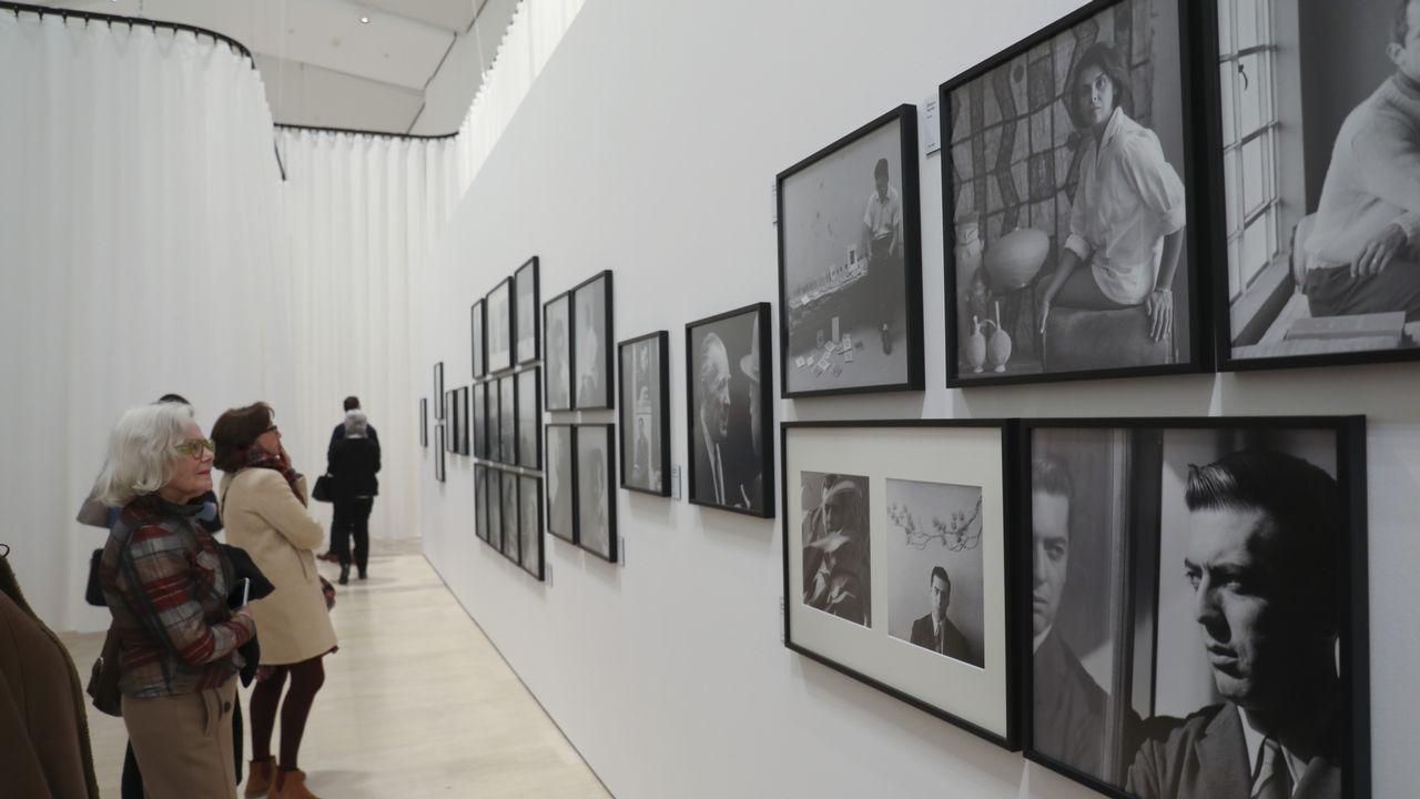 .Detalle de la exposición de Pestana inaugurada ayer en el Gaiás