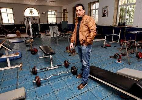 El presidente del club mostró a La Voz el deplorable estado de las instalaciones.