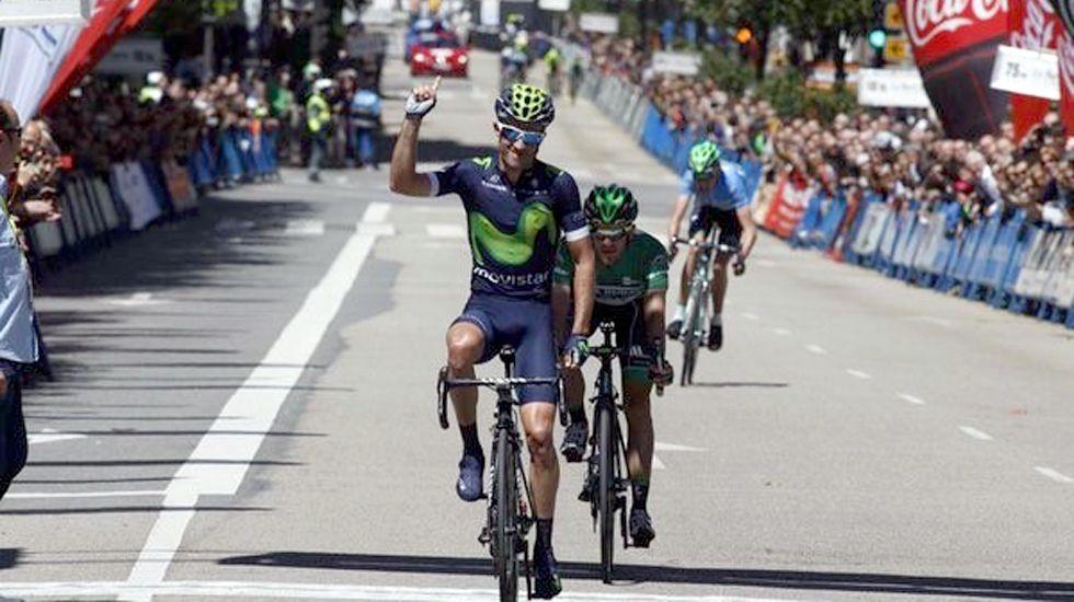 Un final de etapa de la Vuelta Ciclista a Asturias.Un final de etapa de la Vuelta Ciclista a Asturias
