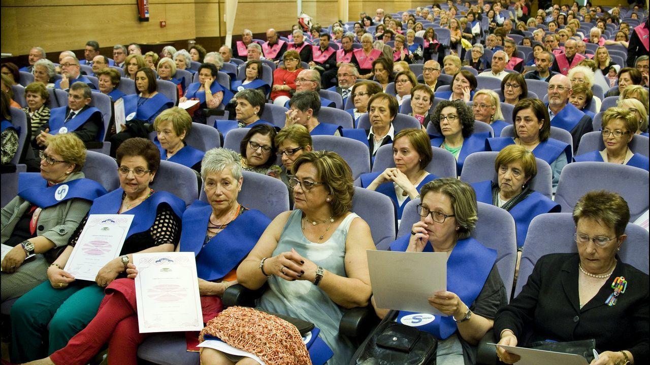 Santiago García, rector de la Universidad de Oviedo, en su visita a la 62 Feria Internacional de Muestras de Asturias