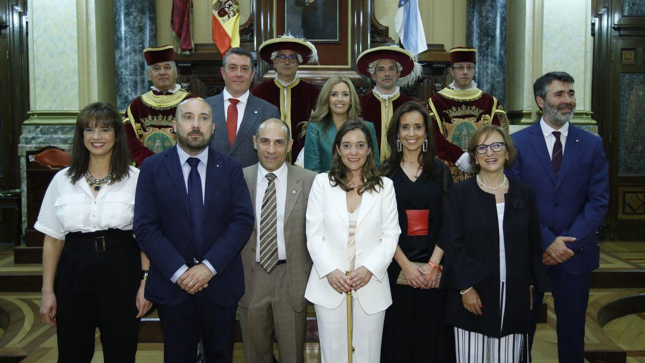 gobiernopita.Ferreiro, Noriega y Suárez, un año después de que se convirtieran en alcaldes de sus ciudades