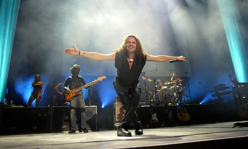 Desfile de carnaval en Pobra do Caramiñal.Fher Olvera, cantante de Maná, en el concierto que el grupo dio en el Coliseo en el 2003.