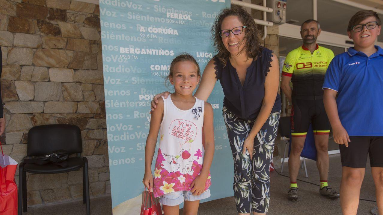.Marta Rey, junto a la pequeña Erika
