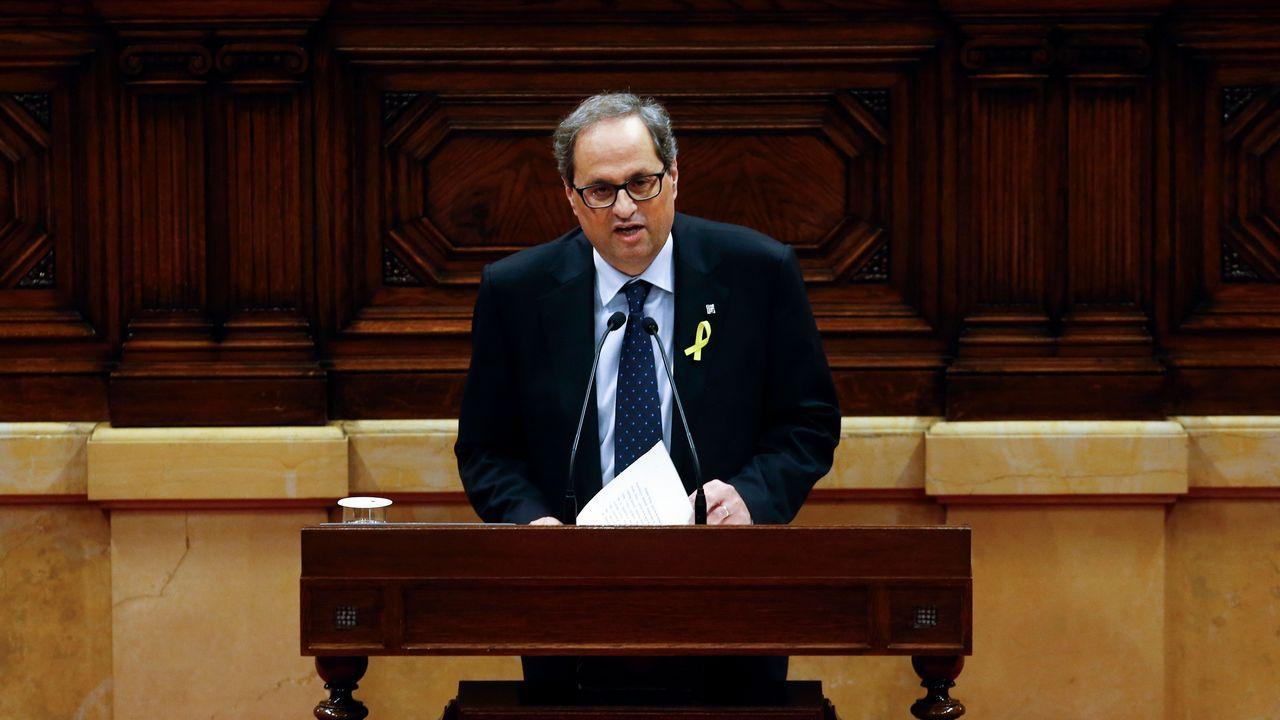 Quim Torra: «Nuestro presidente es Puigdemont y seremos leales al mandato del 1-O»