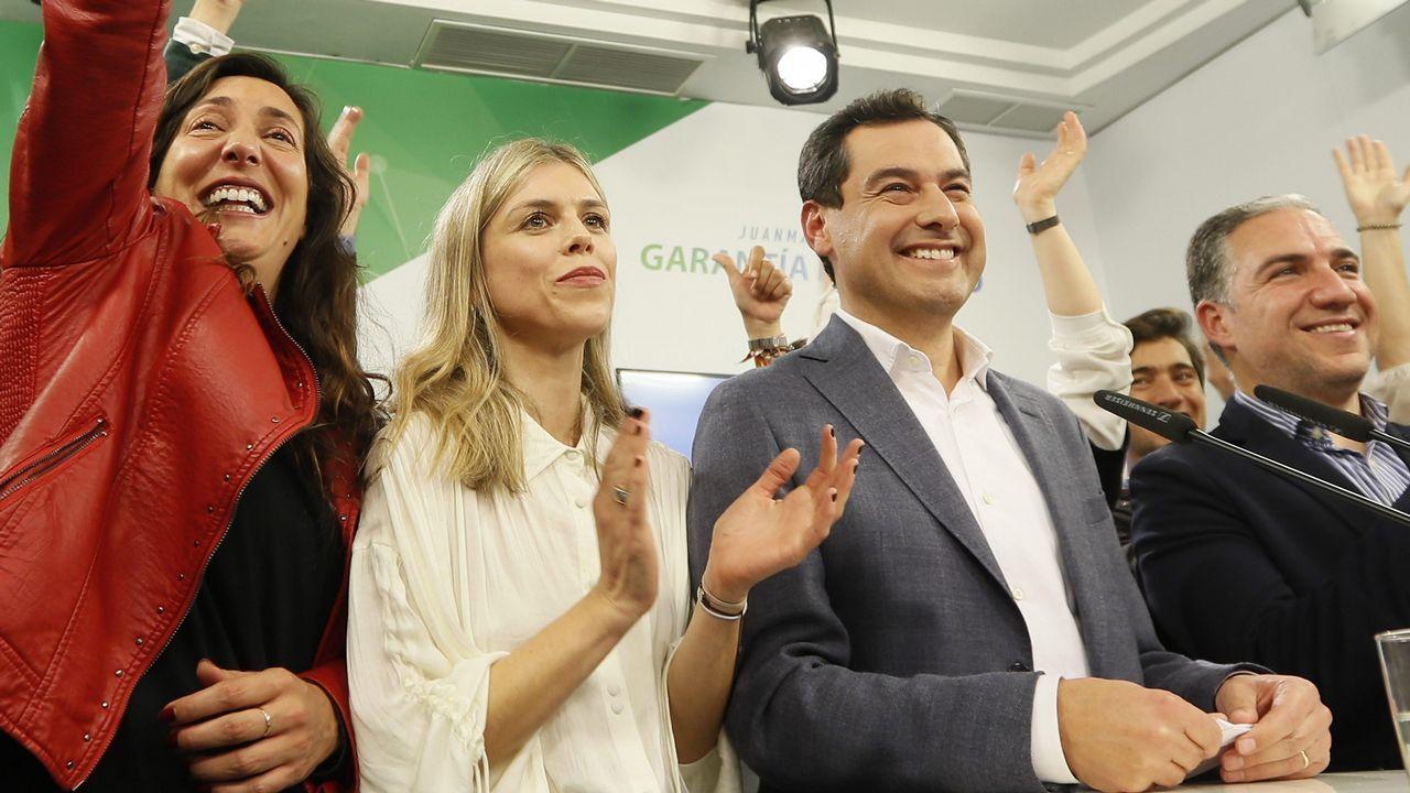 El PP y Ciudadanos presentan sus candidaturas mientras Susana Díaz pide frenar a la ultraderecha.Pablo Casado y Juanma Moreno