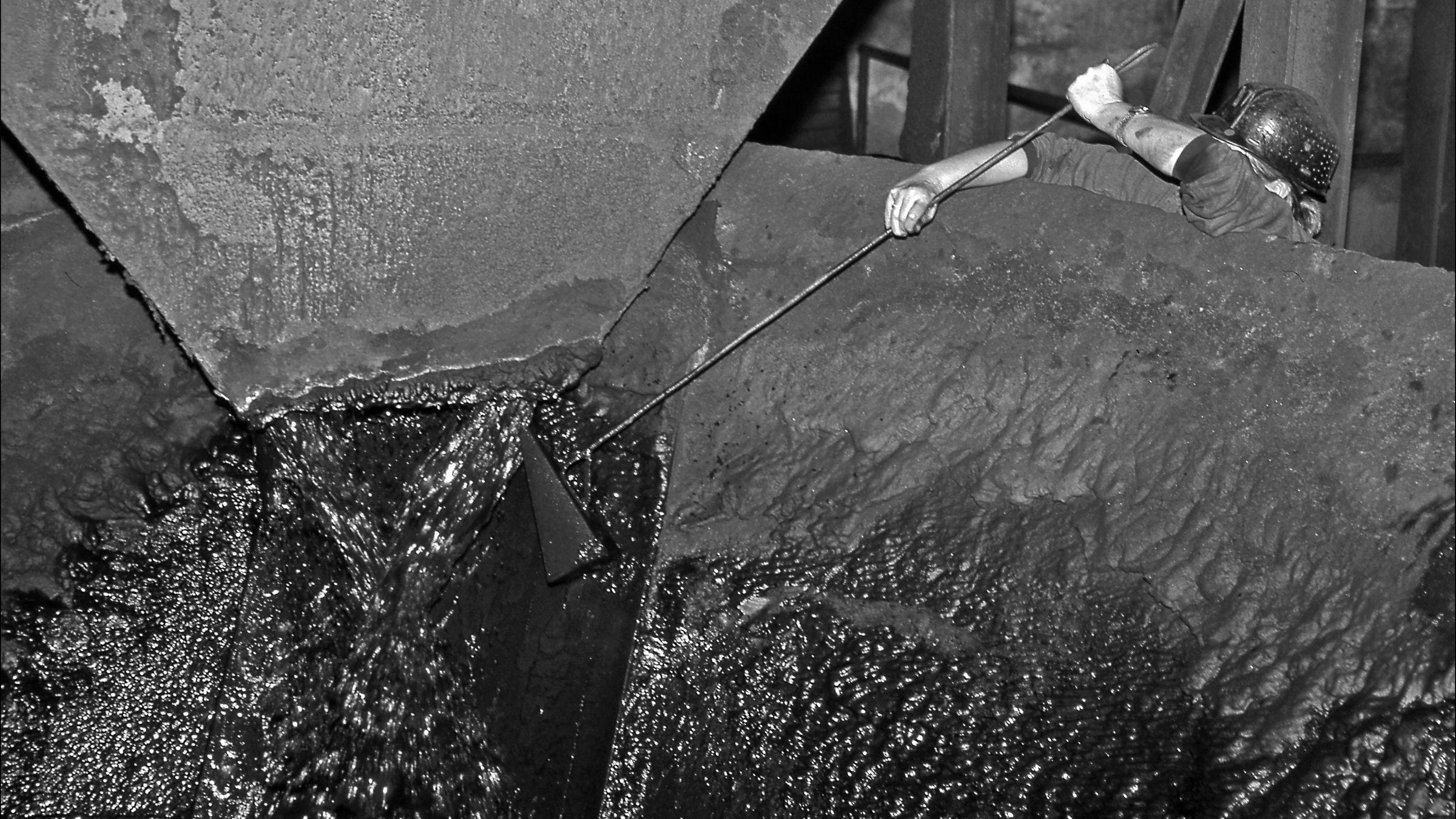 Cuatro décadas de la Ventolín en imágenes. Lavadero de Carbon de El Batan. Mieres. Asturias 1997