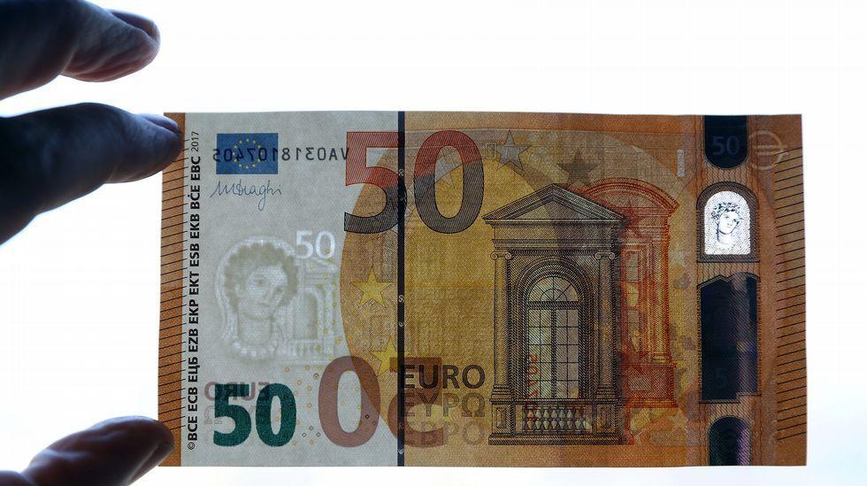 Así es el nuevo billete de 50 euros.