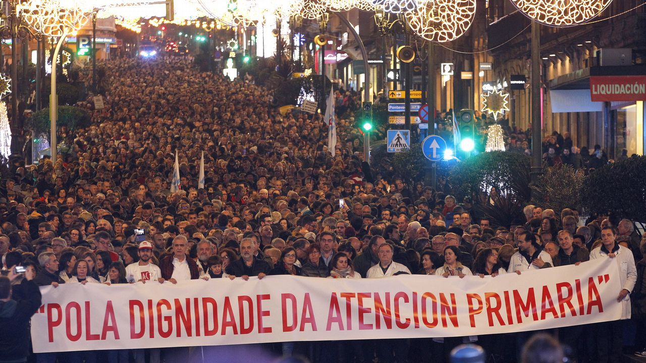 Y al final, Ikea abrió en Vigo.Imágenes de la manifestación del pasado 27 de diciembre