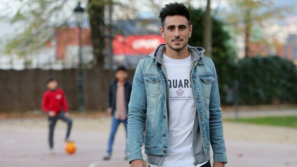 Julio Álvarez, durante un partido en Lugo