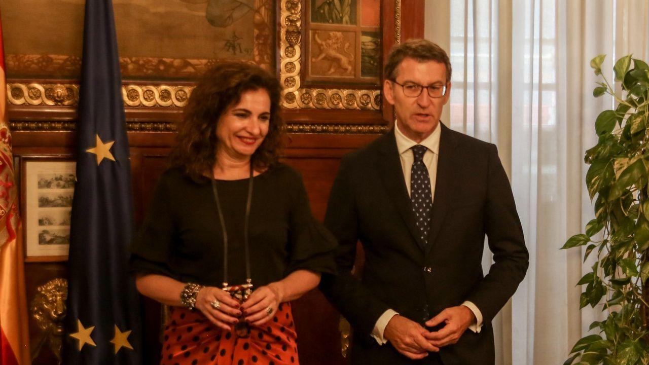 La ministra Montero y Feijoo en una foto de archivo