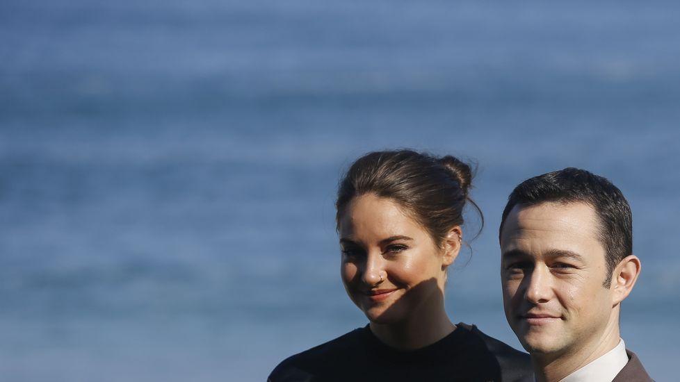 Los actores Joseph Gordon-Levitt y Shailene Woodley, protagonistas de «Snowden»
