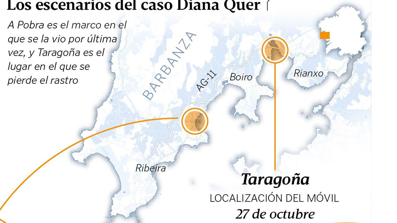 Los escenarios del caso Diana Quer