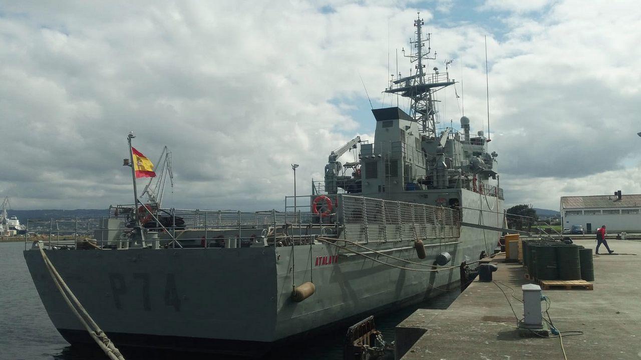 El navío, tras las obras de mantenimiento y actualización de elementos