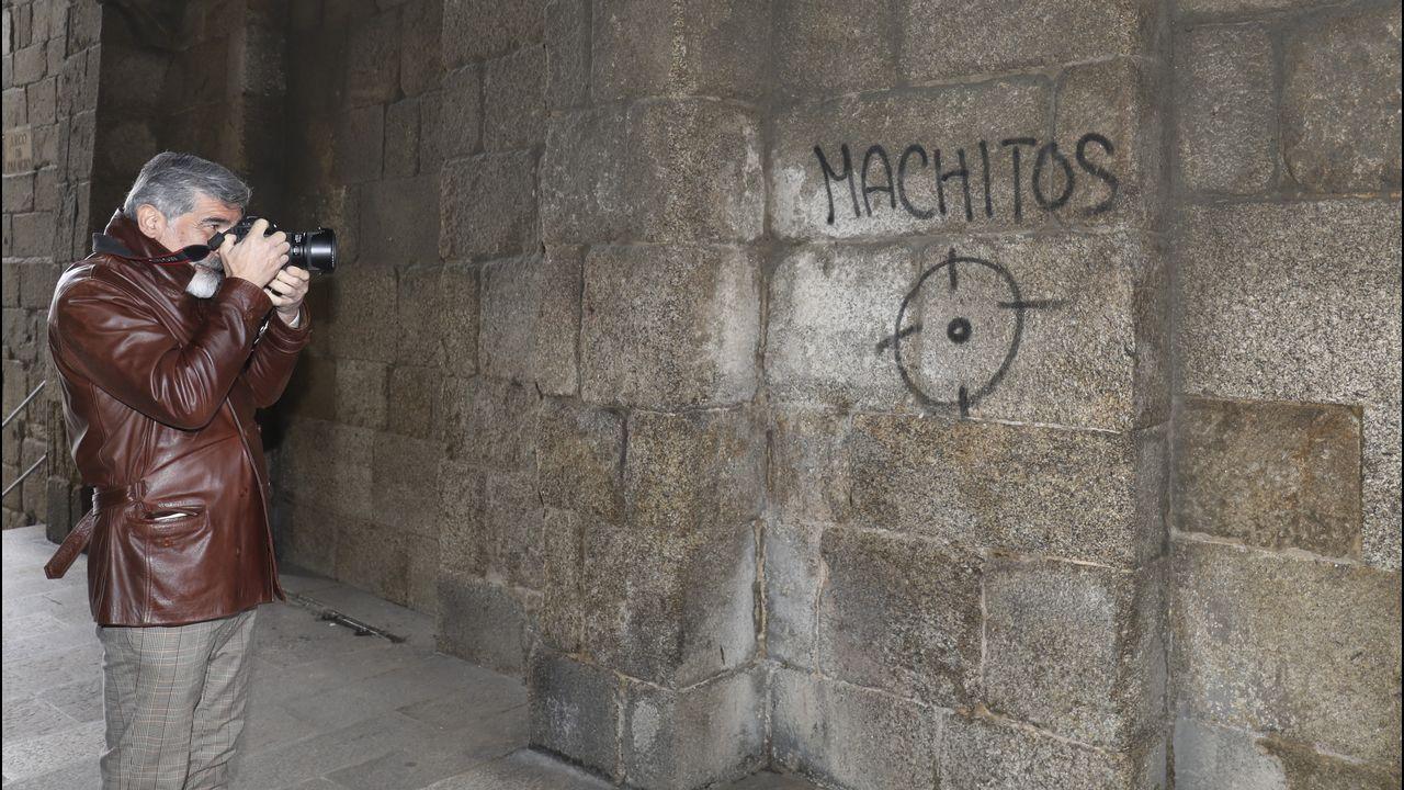 Algunos de losatentadosa otros bienes patrimonio deGalicia.La arquitecta asturiana Concepción Mulet
